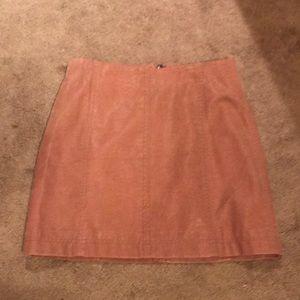 Free People Rose Vegan Suede Mini Skirt